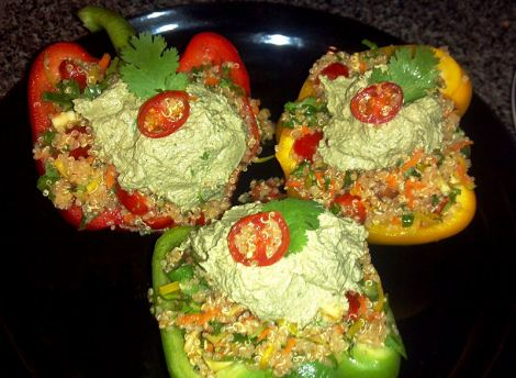 Raw Vegan Stuffed Peppers!