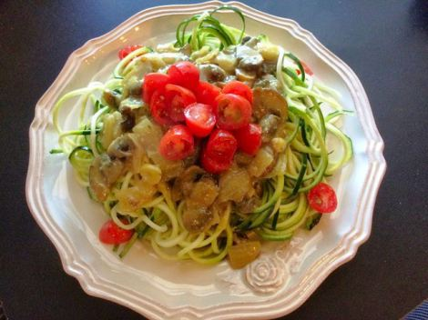 A couple variations you can do is to first saute the  zucchini noodles with some avocado oil, salt and pepper. Some people prefer this method as this cooks the noodles. Both ways taste great though!