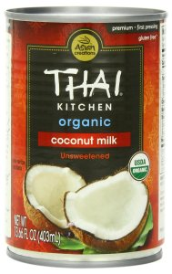 "Coconut milk like this will work. Make sure it doesn't say ""lite"" or ""low-fat"" on it."