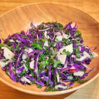 Delicious cabbage salad, ready to eat!