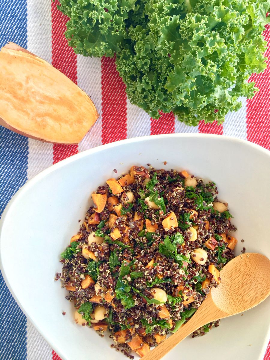 Quinoa Bowl with Sweet Potato and Kale