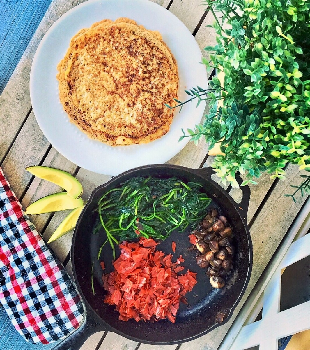 Vegan Savory Crepes