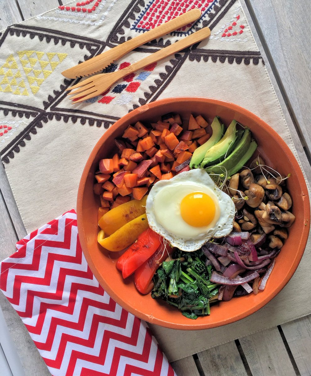 Delicious Vegetarian Breakfast Bowl