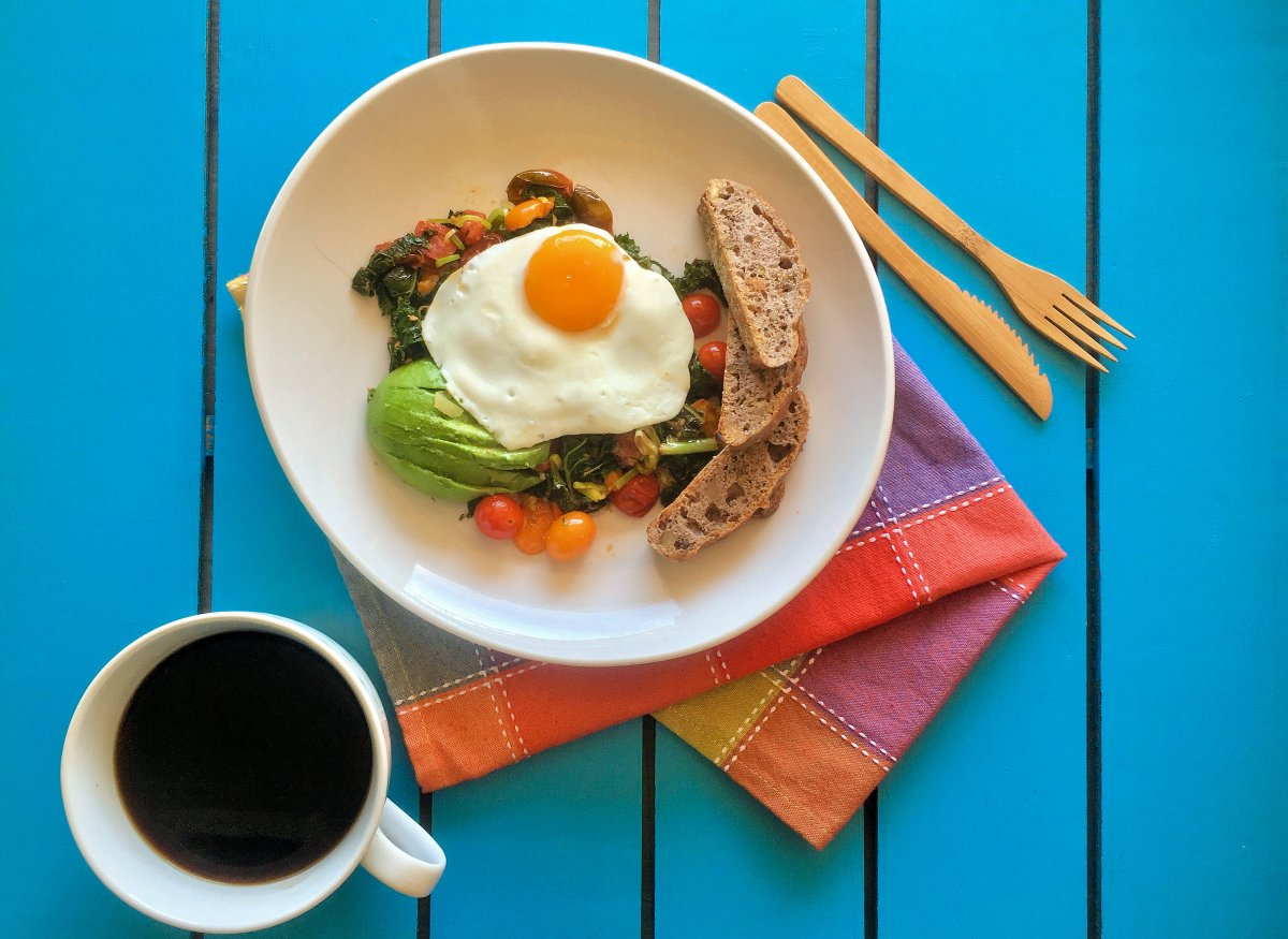 Sauteed Veggies and Eggs